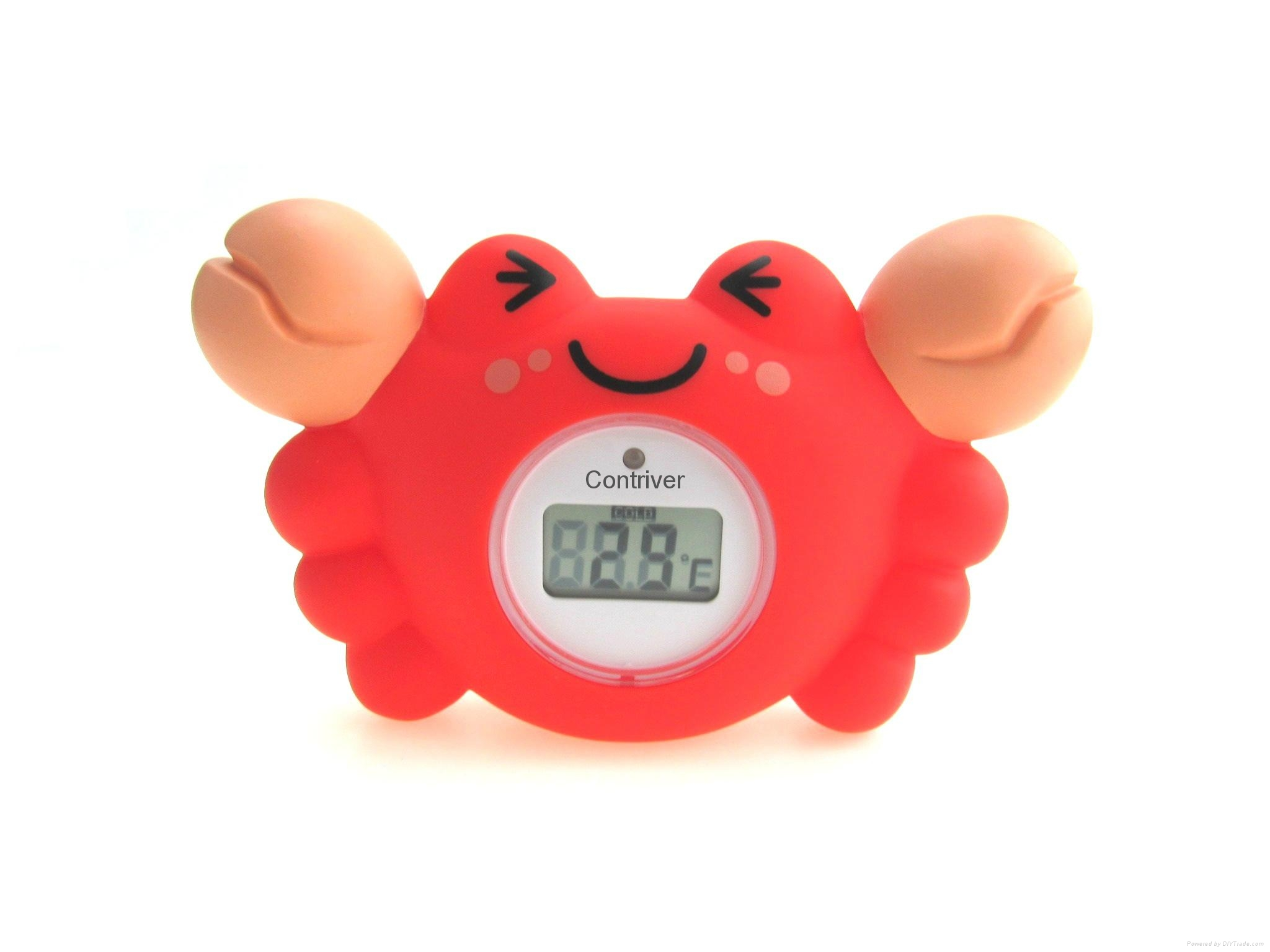 螃蟹浴缸室內兩用溫度計 1