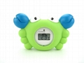 Crab baby bath thermometer