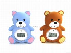 小熊浴缸室内两用温度计