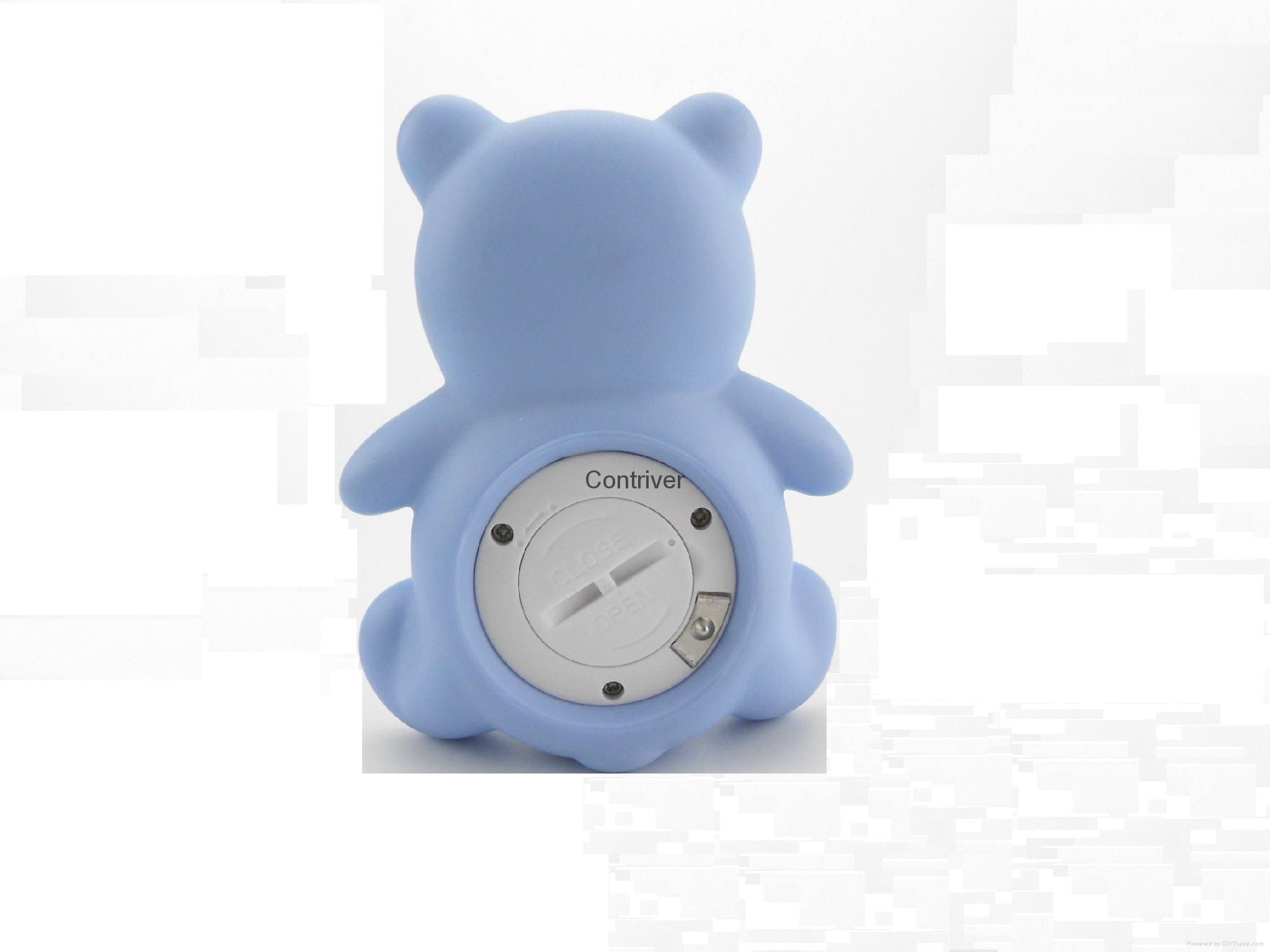 小熊浴缸室内两用温度计 3