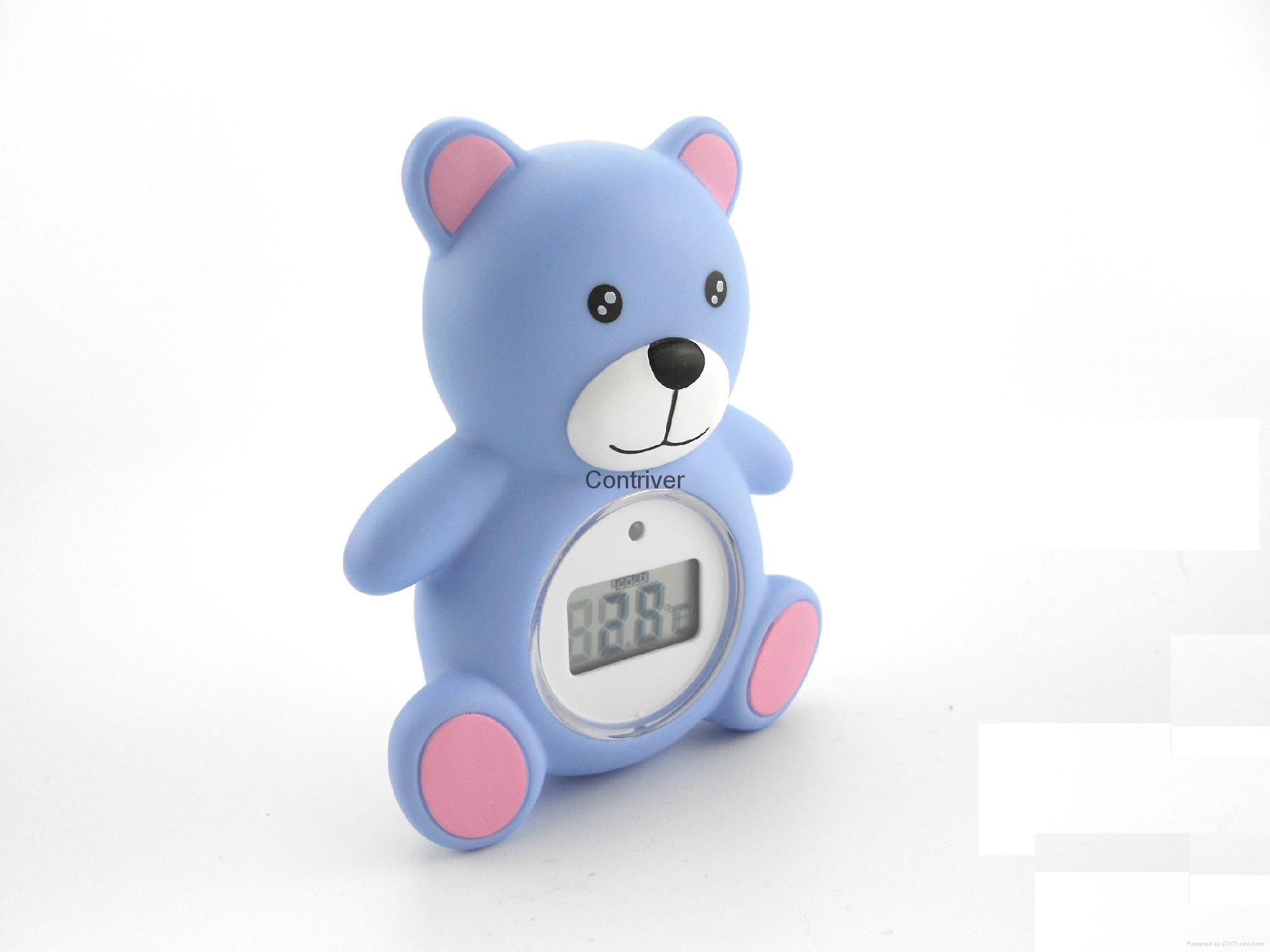 小熊浴缸室内两用温度计 2