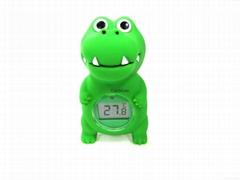 鱷魚浴缸室內兩用溫度計