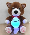 night light with plush toys