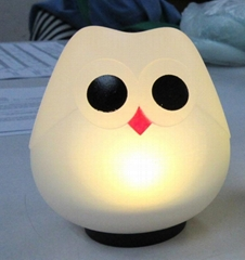 NL36 Owl silicone baby night light