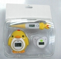 Chick baby thermometer  grooming set