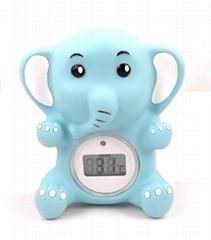 大象婴儿浴缸室内两用温度计