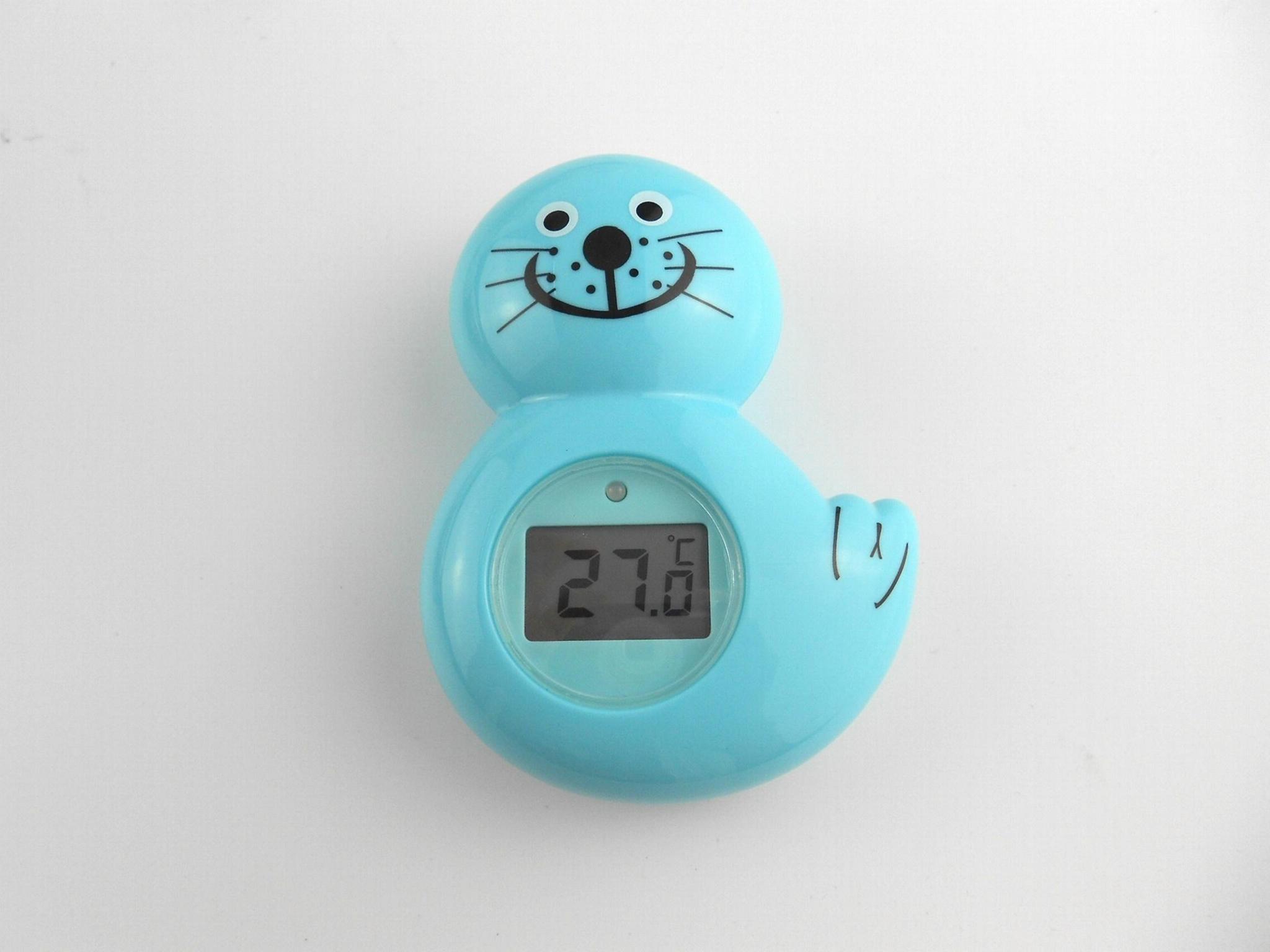 海獅浴缸室內兩用溫度計 4