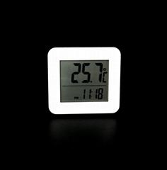 indoor digital thermometer clock alarm hour reminder