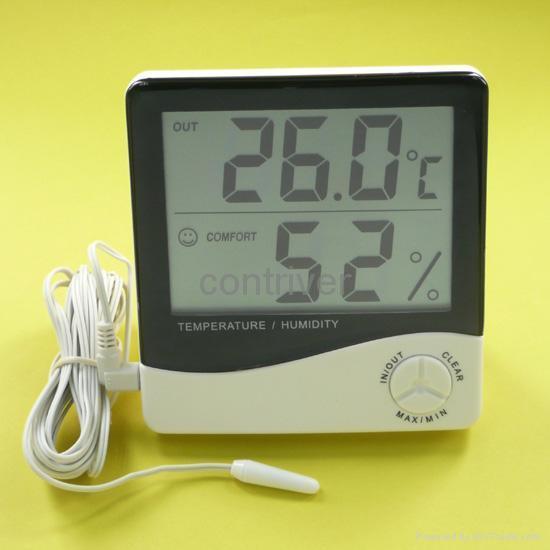 室内外大屏电子温湿度计 1