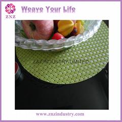 Plastic weaving placemat