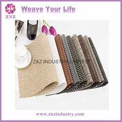 Plastic table mats, PVC table pad, Woven PVC placemat by ZNZ