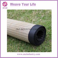 Sissor woven vinyl outdoor mat by ZNZ