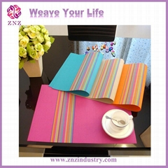 Placemats, table mat.PVC coated woven net/mesh by ZNZ