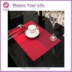 Plastic placemat, Stripe woven nets, PVC woven fabrics, PVC nets,  by ZNZ