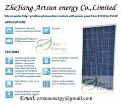 Poly solar panel 220W-240W