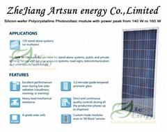 Poly Solar panel 140W-16