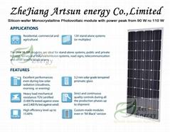 Mono Solar panel 90W-110