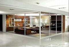 奥格80款单玻璃隔墙