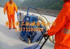 青工垂直移动式路面抛丸清理机