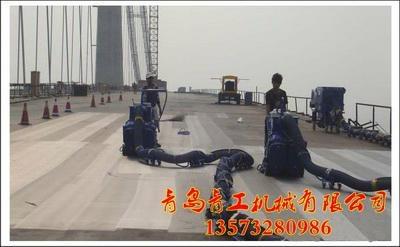 青工桥面防腐防水防滑移动式路面抛丸机  1