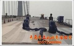 青工桥面防腐防水防滑移动式路面抛丸机