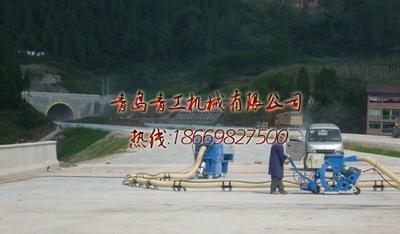 青岛青工混凝土便携移动式抛丸机 4