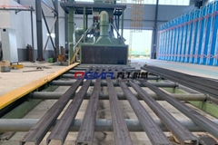 槽钢辊道通过式抛丸机青工供应