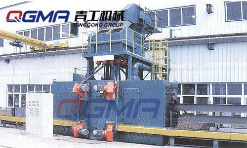 青工供應型鋼拋丸噴砂機除鏽設備 1