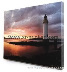 Glossy waterproof canvas