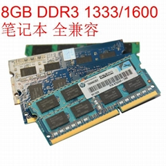 RAM 8GB DDR3 Memory 1600Mhz 1333Mhz CL11 CL9 SODIMM 204Pin for Notebook