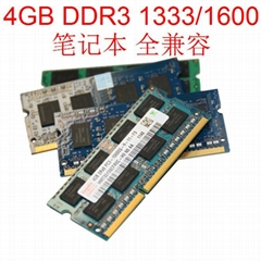 DDR3 4GB RAM Memory 1600Mhz 1333Mhz SODIMM CL11 CL9 204Pin for Notebook