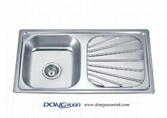 dongyuan kitchenware single bowl single drain sink