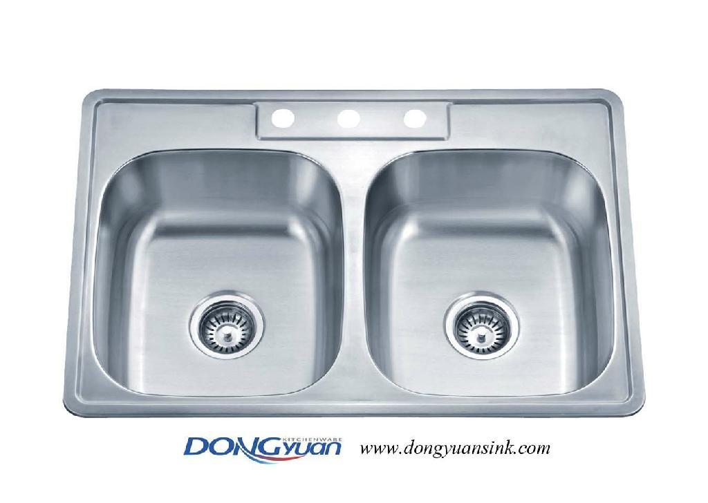 American Standard 18 gauge 304 stainless steel double bowl drop in ...
