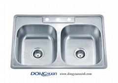 American Standard 18 gauge 304 stainless steel double bowl drop in Kitchen sink