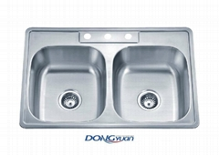 American Standard 18 gauge 304 stainless steel double bowl drop in Kitchen sink