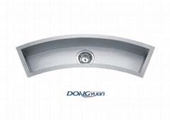 Undermount Curved Trough Bar / Prep Sink