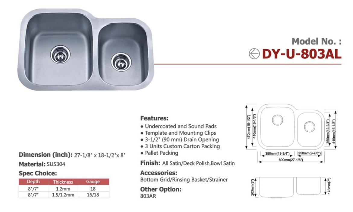 Guangdong Dongyuan Kitchenware Stainless steel undermount sink 2