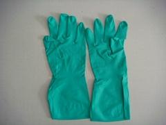 green industrial nitrile gloves