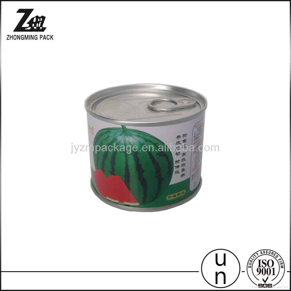 easy open lid tin can for food or oil or fish food grade tinplate 5