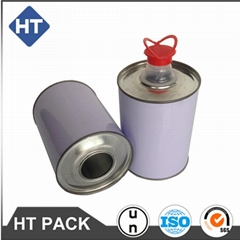 1L lubricant/engine oil/glue cans with plastic cap