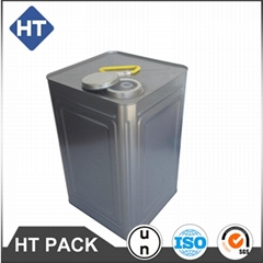 18L square metal bucket for oil or paint or adhesive tin pail