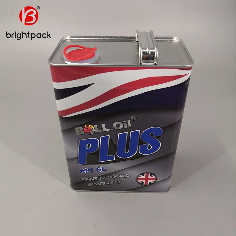 4L square rectangular tin can for lubricating oil engine oil packaging 1