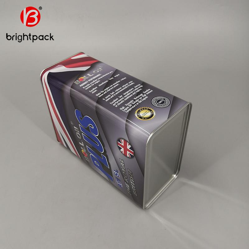 4L square rectangular tin can for lubricating oil engine oil packaging 2