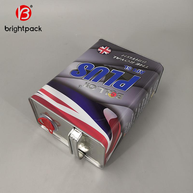 4L square rectangular tin can for lubricating oil engine oil packaging 3