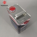 4L square rectangular tin can for lubricating oil engine oil packaging 4