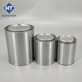 pint quart gallon round paint cans with