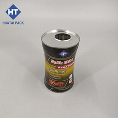 1L lubricanting oil tin can engine oil tin bottle with plastic closures
