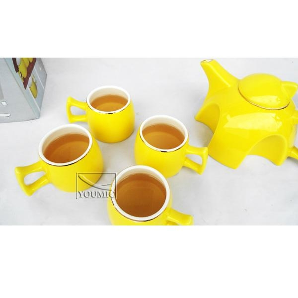 Glazed Chinese teapot set,special design and beautiful color 1