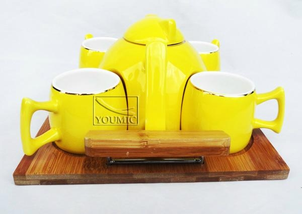 Glazed Chinese teapot set,special design and beautiful color 2