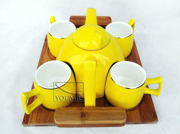 Glazed Chinese teapot set,special design and beautiful color 3